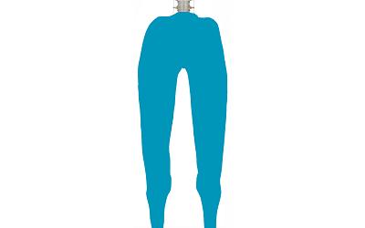正常な太ももの筋肉のシルエット